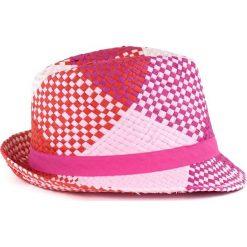 Kapelusz damski Lato w kratę  różowy. Czerwone kapelusze damskie Art of Polo, na lato. Za 28,94 zł.