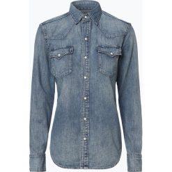 Polo Ralph Lauren - Damska koszula jeansowa, niebieski. Niebieskie koszule jeansowe damskie Polo Ralph Lauren, l, z kontrastowym kołnierzykiem. Za 659,95 zł.