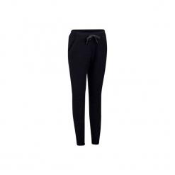 Spodnie dresowe Gym & Pilates damskie. Czarne bryczesy damskie marki KIPSTA, l, z bawełny, na fitness i siłownię. Za 79,99 zł.