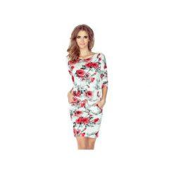 Sukienki: SUKIENKA SPORTOWA CASUAL CZERWONE ROŻE