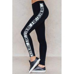 Spodnie damskie: Calvin Klein Legginsy Logo WW - Black