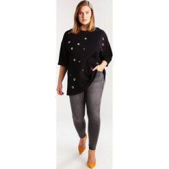Bluzki asymetryczne: Glamorous Curve APPLIQUES Bluzka z długim rękawem black