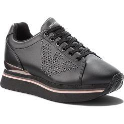 Sneakersy EMPORIO ARMANI - X3X055 XF257 00002 Black. Czarne sneakersy damskie Emporio Armani, z materiału. Za 899,00 zł.