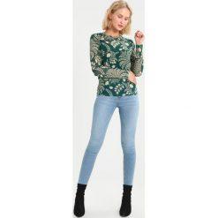 Bluzki asymetryczne: Soaked in Luxury Bluzka z długim rękawem storm green print