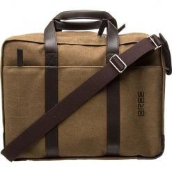 """Torba """"Punch Casual 67"""" w kolorze brązowym na laptop - 40 x 30 x 13 cm. Brązowe torby na laptopa marki BREE, w paski, z bawełny. W wyprzedaży za 432,95 zł."""
