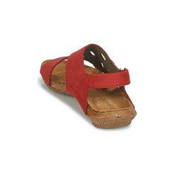 Sandały El Naturalista  WAKATAUA. Czerwone sandały trekkingowe damskie marki El Naturalista. Za 351,20 zł.