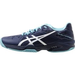 ASICS GELSOLUTION SPEED 3 CLAY Obuwie do tenisa Outdoor indigo blue/white/porcelain blue. Niebieskie buty sportowe damskie Asics, z materiału, na golfa. W wyprzedaży za 464,25 zł.