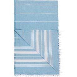 Chusta hammam w kolorze niebieskim - 180 x 100 cm. Czarne chusty damskie marki Hamamtowels, z bawełny. W wyprzedaży za 43,95 zł.