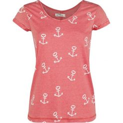 Bluzki asymetryczne: Urban Surface Anchors Koszulka damska czerwony