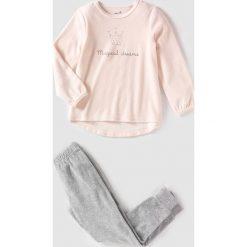 Bielizna dziewczęca: Świąteczna piżama z weluru 2 – 12 lat