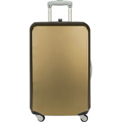 Pokrowiec na walizkę LOQI Mettalic Gold. Brązowe walizki LOQI, z elastanu. Za 157,00 zł.