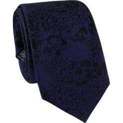 Krawat jedwabny KWGR000211. Czarne krawaty męskie Giacomo Conti, z jedwabiu. Za 129,00 zł.