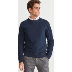 Dzianinowa bluza - Granatowy. Białe bluzy męskie marki Reserved, l, z dzianiny. Za 79,99 zł.
