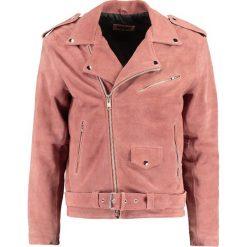 12 Midnight CLASSIC BIKER Kurtka skórzana pink. Czerwone kurtki męskie skórzane 12 Midnight, l. W wyprzedaży za 377,55 zł.