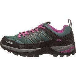 """Buty turystyczne """"Rigel"""" w kolorze czarno-zielonym. Czarne buty trekkingowe damskie marki The North Face. W wyprzedaży za 218,95 zł."""