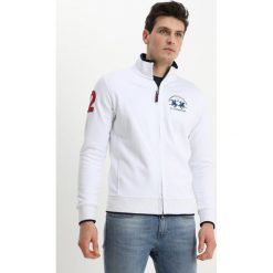 Bejsbolówki męskie: La Martina FULL ZIP SUMMER Bluza rozpinana optic white