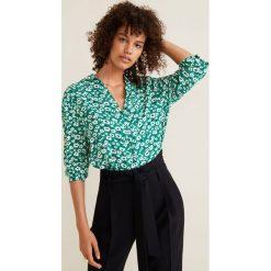 Mango - Koszula. Szare koszule damskie Mango, l, z materiału, casualowe, z długim rękawem. Za 89,90 zł.