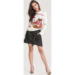Kremowy Sweter Take A Look. Białe swetry klasyczne damskie other, l. Za 79,99 zł.