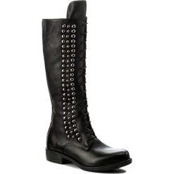 Kozaki EVA MINGE - Remedios 2C 17JS1372269EF 101. Czarne buty zimowe damskie Eva Minge, z nubiku. W wyprzedaży za 449,00 zł.