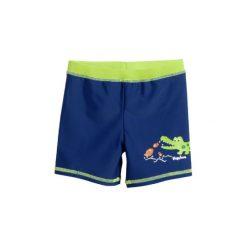Playshoes Spodenki kąpielowe UV Krokodyl. Brązowe kąpielówki chłopięce Playshoes, z elastanu. Za 49,00 zł.