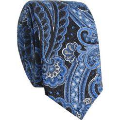 Jedwabny krawat KWWR007010. Białe krawaty męskie Giacomo Conti, z aplikacjami, z jedwabiu. Za 169,00 zł.
