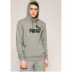 Puma - Bluza. Szare bluzy męskie rozpinane Puma, l, z nadrukiem, z bawełny, z kapturem. W wyprzedaży za 179,90 zł.