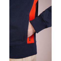 Bejsbolówki męskie: Ron Dorff SIDE STRIPES ZIPPED  Bluza rozpinana navy/shock orange