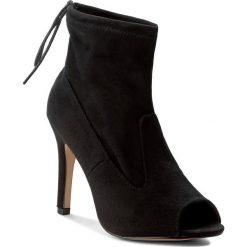 Szpilki JENNY FAIRY - WYL1229S-2 Czarny. Czarne botki damskie skórzane marki Jenny Fairy, eleganckie, na obcasie. W wyprzedaży za 99,99 zł.
