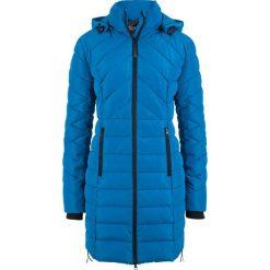 Bomberki damskie: Długa kurtka pikowana, ocieplana bonprix lazurowy