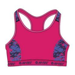 Biustonosze sportowe: Hi-tec Biustonosz Lady Atim Beetroot Purple Pattern r. L
