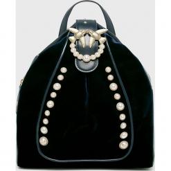 Pinko - Plecak skórzany. Czarne plecaki damskie Pinko, z materiału. Za 1499,00 zł.