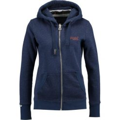 Bluzy damskie: Superdry LABEL SPARKLE ZIP HOOD Bluza rozpinana navy/copper