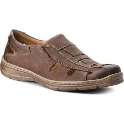 Sandały LASOCKI FOR MEN - MI07-A695-A556-02 Brązowy. Brązowe sandały męskie skórzane Lasocki For Men. W wyprzedaży za 159,99 zł.