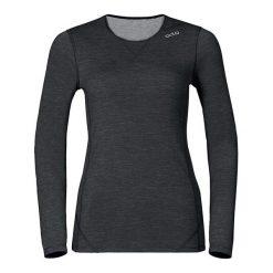 Odlo Koszulka damska Shirt l/s crew neck Revolution Tw Warm czarna r. L. Czarne bluzki sportowe damskie marki Odlo, l. Za 209,27 zł.