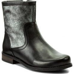 Botki LASOCKI - OCE-SELIN-02 Czarny. Czarne buty zimowe damskie Lasocki, ze skóry, na obcasie. Za 199,99 zł.