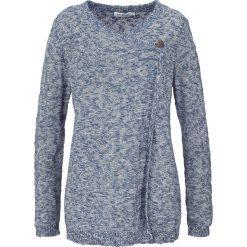 Sweter rozpinany, długi rękaw bonprix indygo. Niebieskie kardigany damskie bonprix. Za 59,99 zł.