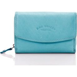 Portfele damskie: Błękitny Skórzany portfel damski Bag Street