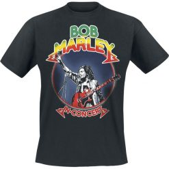T-shirty męskie: Bob Marley Rasta in Concert T-Shirt czarny
