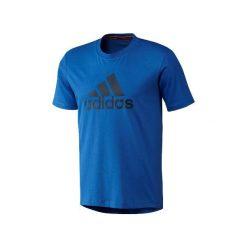T-shirty męskie: Adidas Tshirt męski Logo niebieski r. S