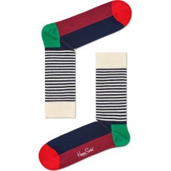 Happy Socks - Skarpety Half Stripe Christmas. Szare skarpetki męskie Happy Socks. Za 39,90 zł.