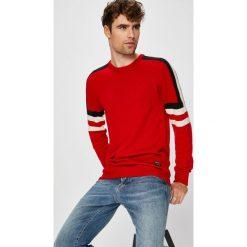 Wrangler - Sweter. Szare swetry klasyczne męskie Wrangler, l, z dzianiny, z okrągłym kołnierzem. Za 269,90 zł.