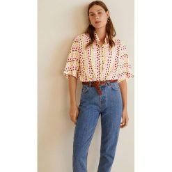Mango - Koszula Ines3. Różowe koszule damskie marki Mango, l, z krótkim rękawem. W wyprzedaży za 69,90 zł.