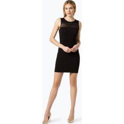Guess Jeans - Sukienka damska, czarny. Szare sukienki marki Guess Jeans, na co dzień, l, z aplikacjami, z bawełny, casualowe, z okrągłym kołnierzem, mini, dopasowane. Za 349,95 zł.