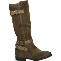 Kozaki - 3750 CAM TAUP. Brązowe buty zimowe damskie marki Venezia, ze skóry. Za 539,00 zł.