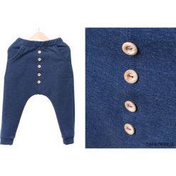 Chinosy chłopięce: Wiosenne spodnie baggy jeansowe+GUZIKI naturalne