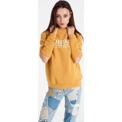 Naoko - Bluza Boheme Soleil x Edyta Górniak. Szare bluzy z nadrukiem damskie marki NAOKO, l, z elastanu, casualowe. W wyprzedaży za 129,90 zł.