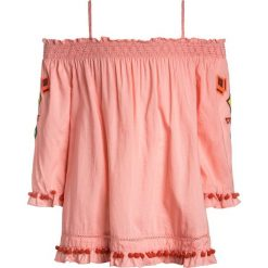 Odzież dziecięca: Scotch R'Belle OFF THE SHOULDER WITH COLOURFUL EMBROIDERIES Bluzka flamingo