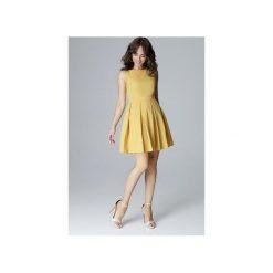 Sukienka L006 Żołty. Żółte sukienki na komunię marki Lenitif, l, bez rękawów, dopasowane. Za 179,00 zł.