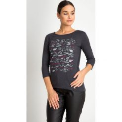 Bluzki damskie: Szara bluzka ze wzorem QUIOSQUE