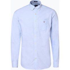 Gant - Koszula męska, niebieski. Niebieskie koszule męskie marki GANT, l, z klasycznym kołnierzykiem. Za 449,95 zł.